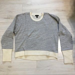 MWT J. Crew Grey Crewneck Sweater